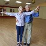 elderly couple dancing in durham