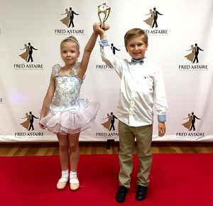 children at a ballroom dance competition