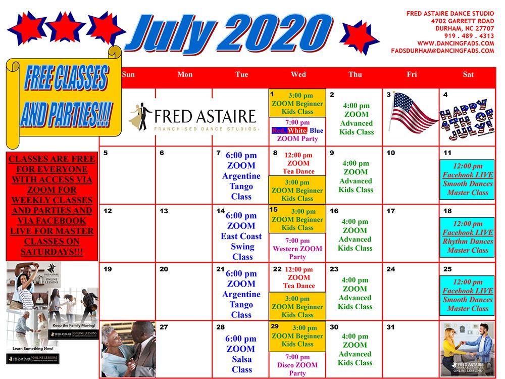 Durham Dance Calendar July 2020