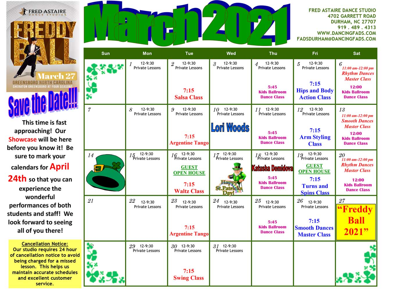 Durham Dance Calendar November 2020